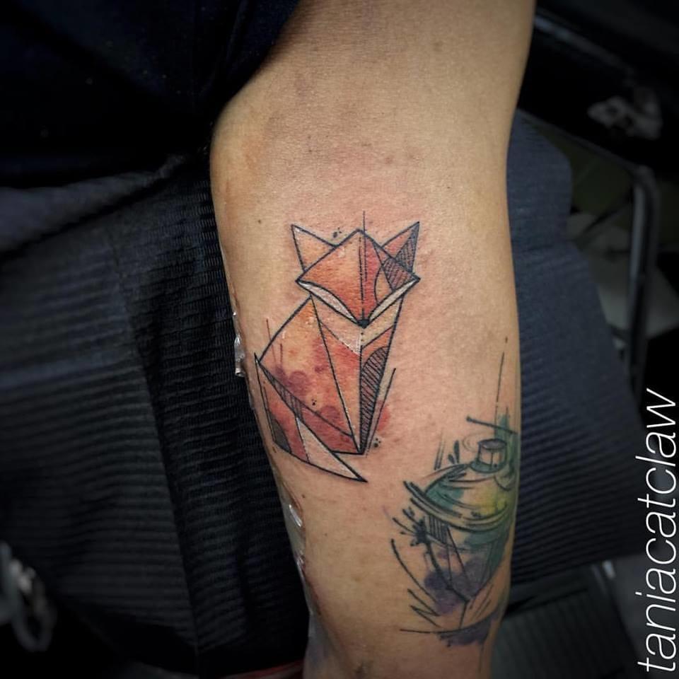 Creative fox tattoo