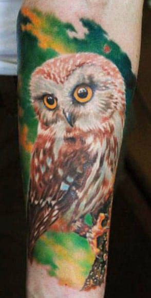 15 Magníficas Tatuagens De Corujas