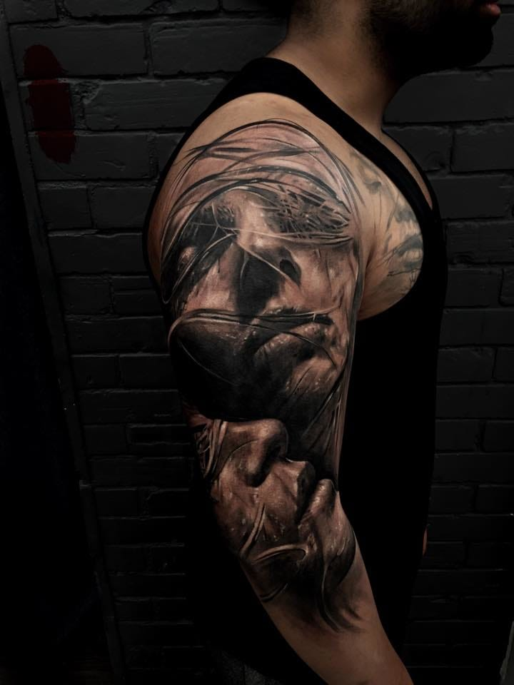 Impressive half sleeve.