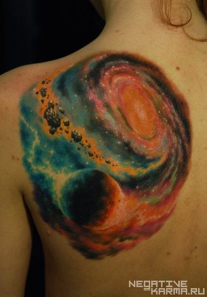 Outer space tattoo