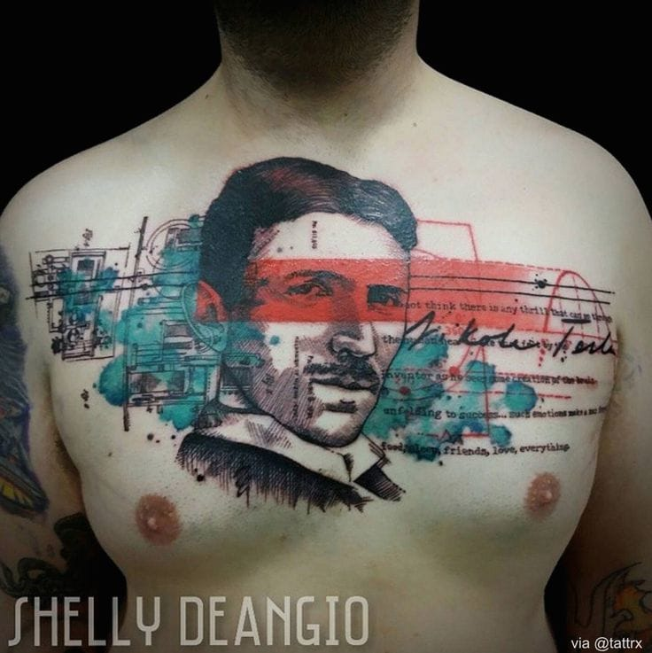 Cool chestpiece by Shelly DeAngio.