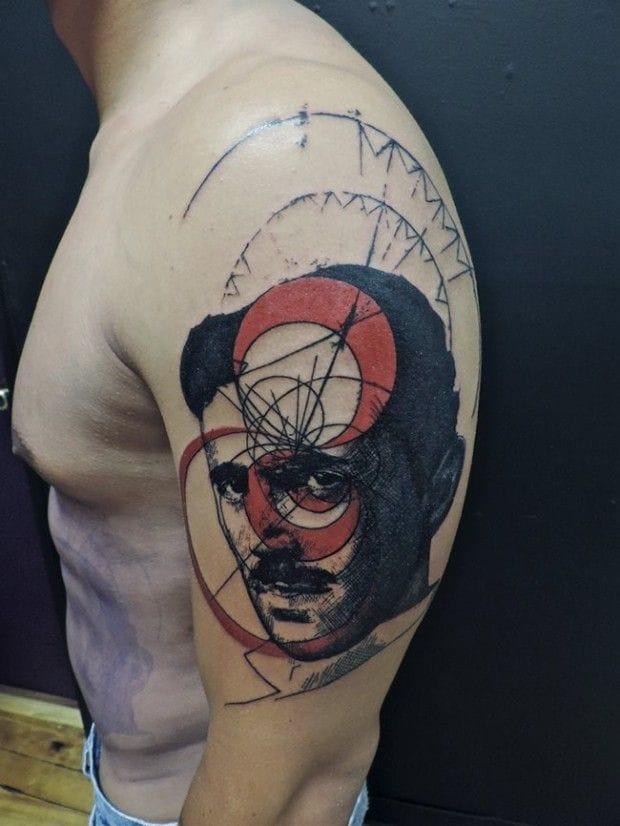 Eye-catching tattoo by Toko Loren.