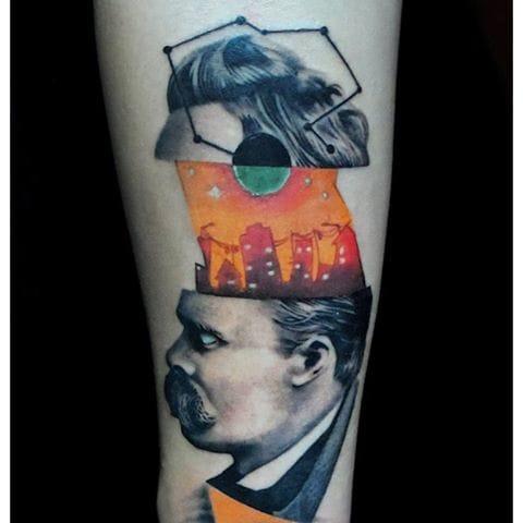 Another creative tattoo, by Sergio Martinez.