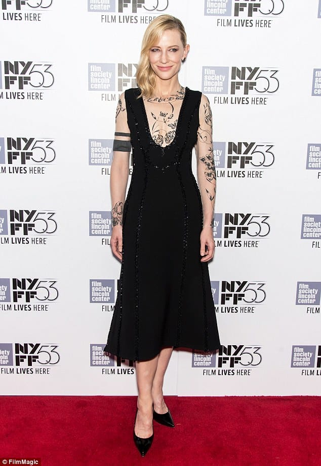 Chic tattoo couture - a new trend on the red carpet?