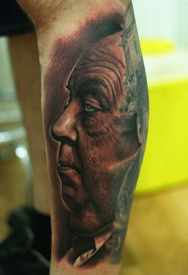 12 Mysterious Alfred Hitchcock Tattoos