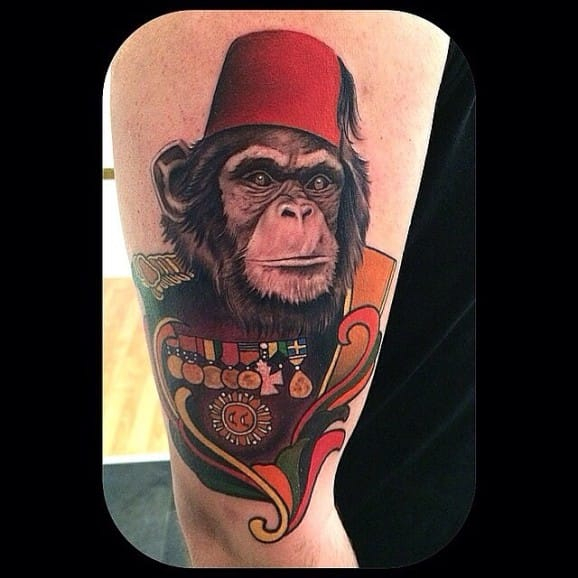 Epic Chimp Tattoo by Ottos