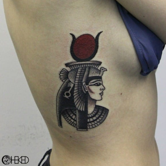 Hathor Tattoo by Alice Checked