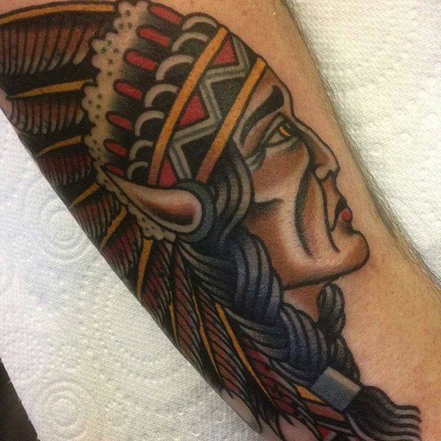 18 Proud Native American Chief Tattoos!