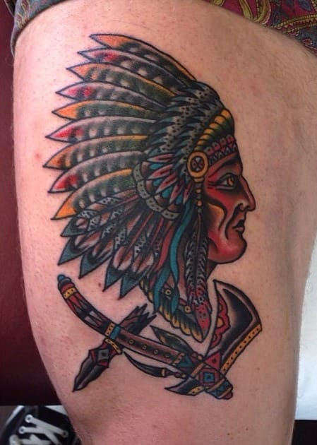 Tomahawk Chief Tattoo by Capilli Tupou