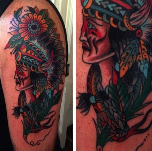 Chief Tattoo by Luke Jinks