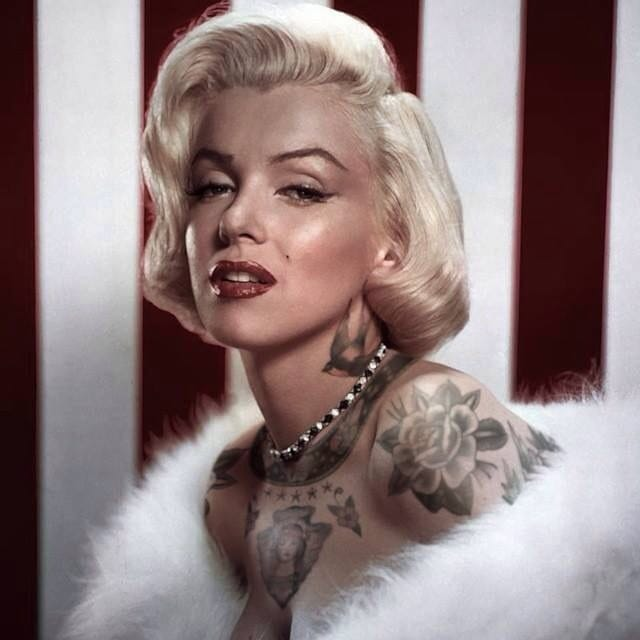 Vintage And Modern Tattooed Celebrities By Cheyenne Randall