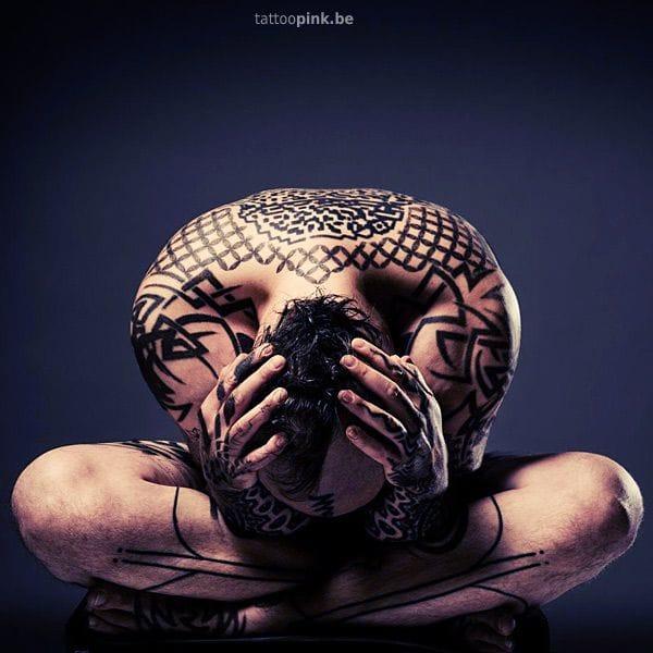 Tattoo artist Pinke Leenders shot by Reginald Tackoen.