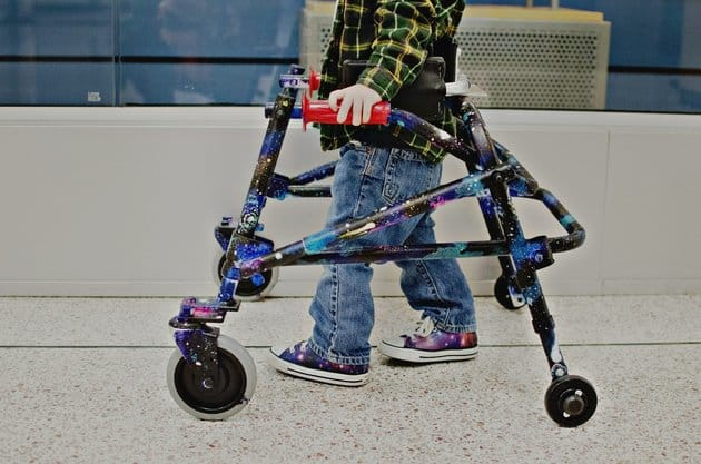 Tattoo Artist Paints Galaxy-Themed Walker For Toddler With Hypotonia