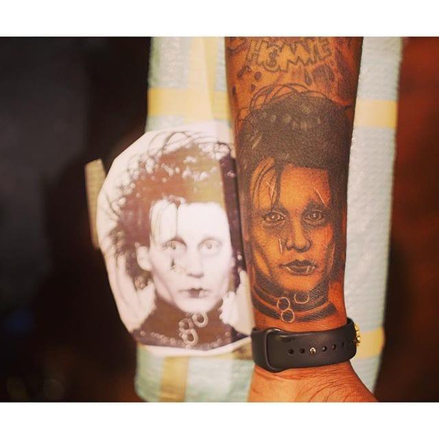 Rich Homie Quan Gets A New Edward Scissorhands Tattoo