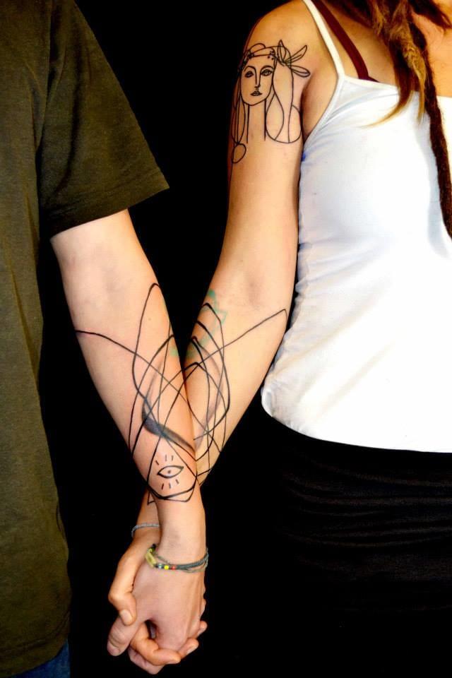 Tatuagem de casal!
