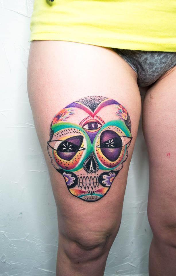 Uma sugar skull diferente