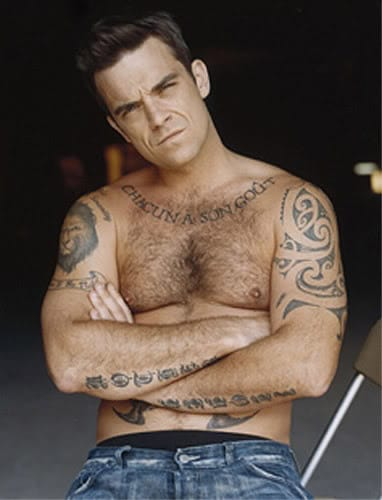 14. Robbie Williams - English singer and songwriter