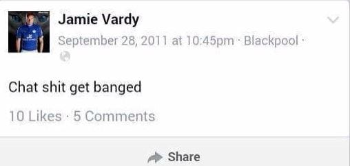 Vardy's Now Famous Facebook Post!!