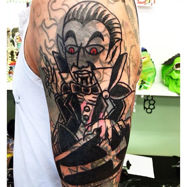 Dracula Blast Over Tattoo