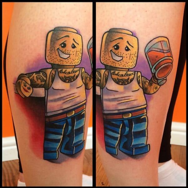 Tattooed dude by Andy Walker.