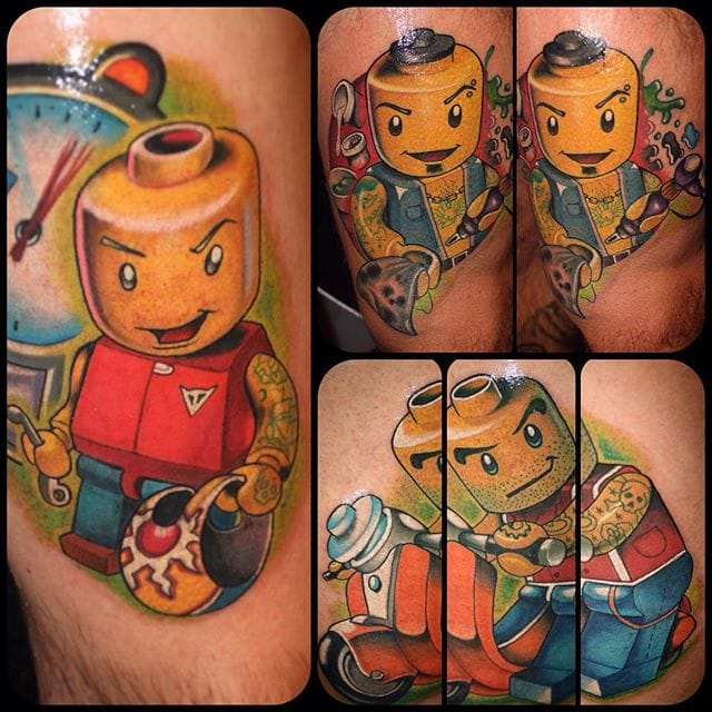 Tattooed Lego figures by Paolo Gnocchi.