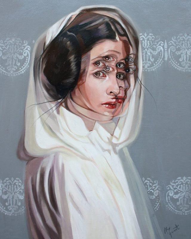 Fabulous Princess Leia paniting!