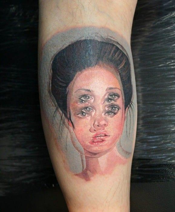 Gorgeous tattoo by Viktoria Kirnoz.