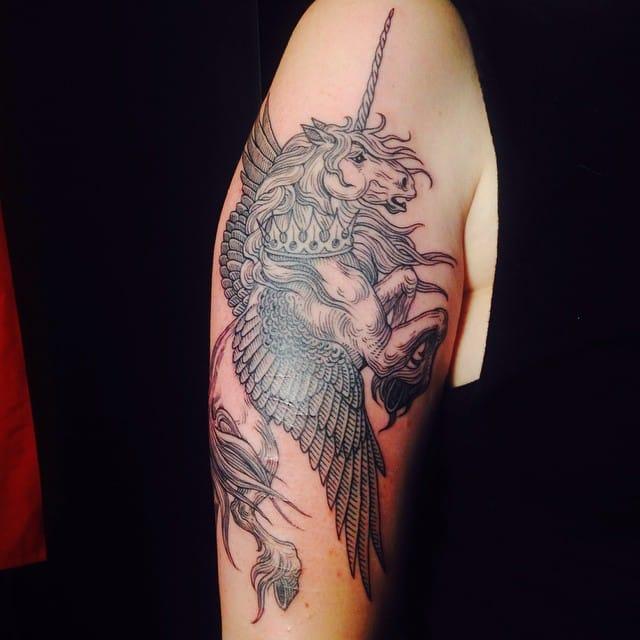 Dark Pegasus unicorn by Alex Snelgrove.