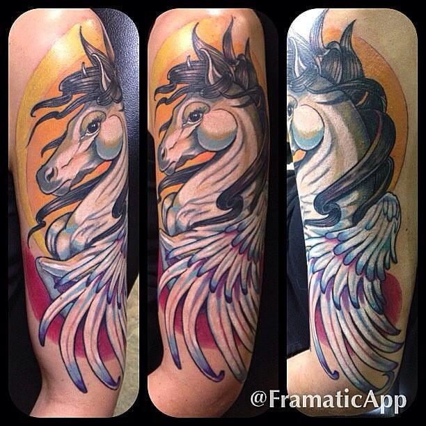 Dynamic tattoo by Tyson.