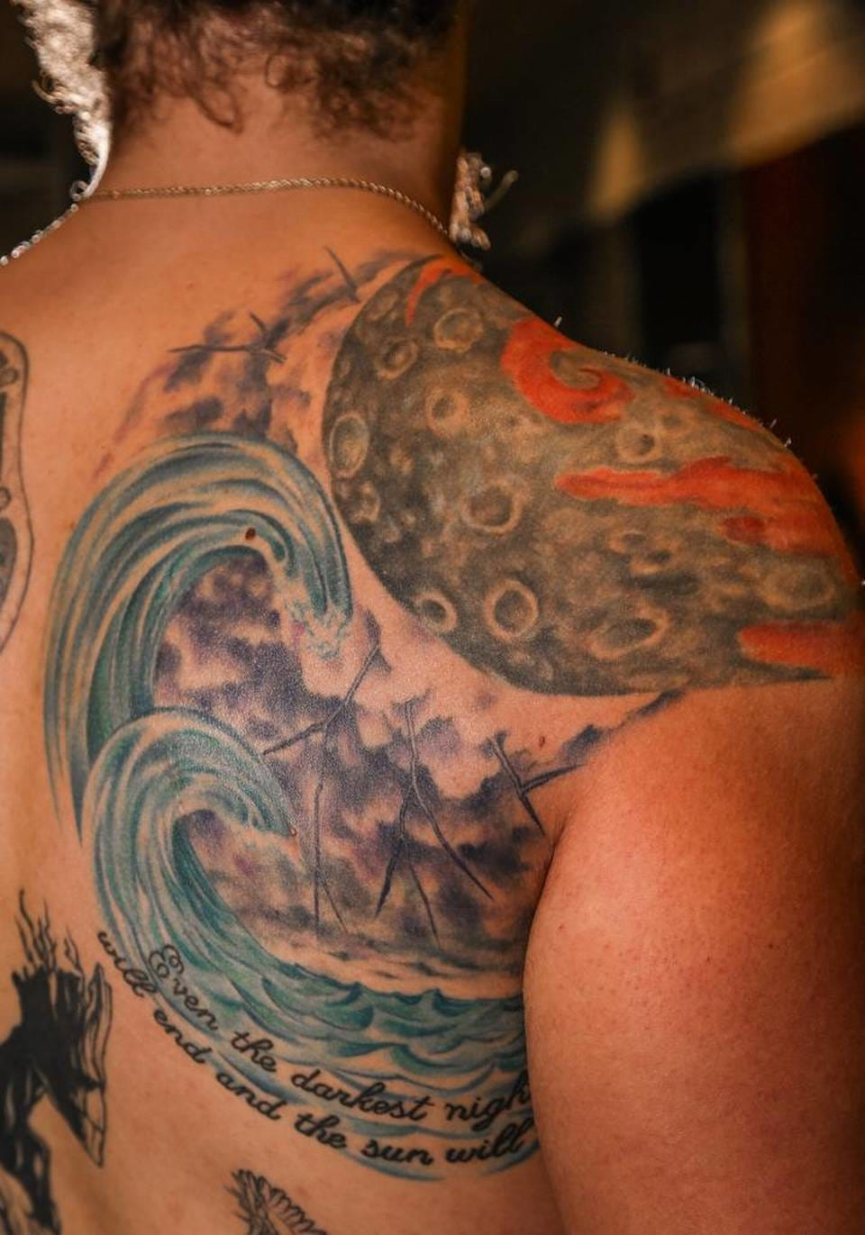 Matulis Has Some Creative Tattoos Covering His Torso!