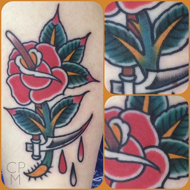 Scythe Rose Tattoo by C.P.Martin