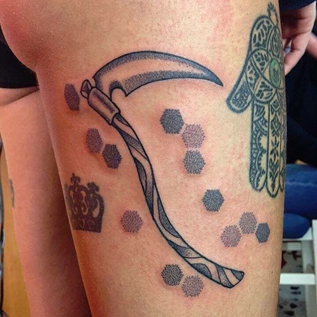 Scythe Tattoo by chicco_tortora