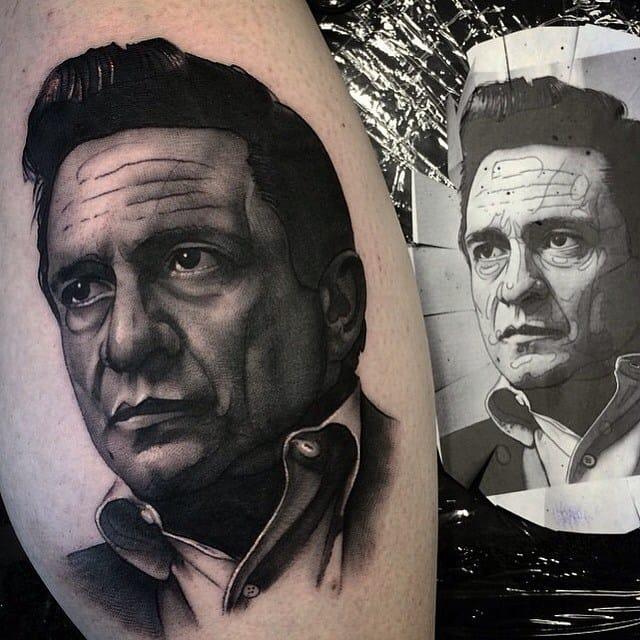 15 Emphatic Johnny Cash Tattoos
