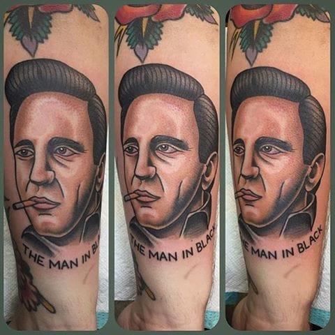 Johnny Cash Tattoo by Nick Quinn