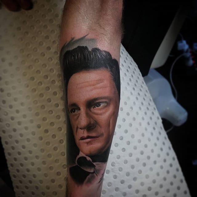 Johnny Cash Tattoo by Richard Reynolds