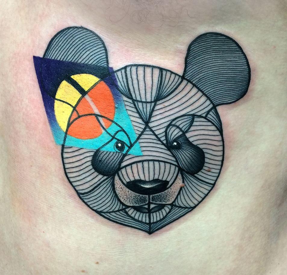 A panda tattoo like no other! Photo credit: Mariusz Trubisz Facebook page.