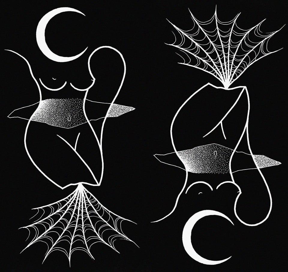 Cobwebs meet body shape in this unusual tattoo design. Photo credit: Mariusz Trubisz Facebook page.