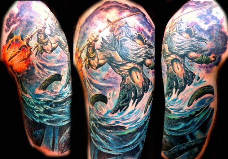 Poseidon Tattoo by Joey Hamilton
