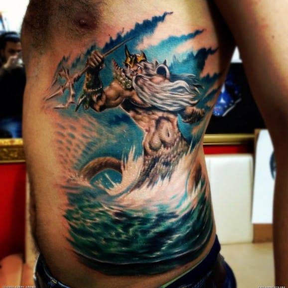 Killer Poseidon Tattoo by Kobay Kronik