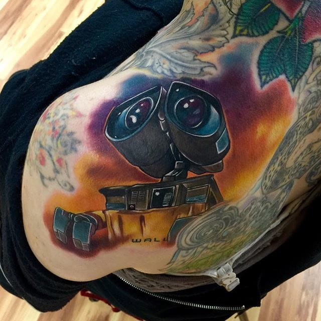 Stunning WALL-E Tattoo by Audie Fulfer jr.
