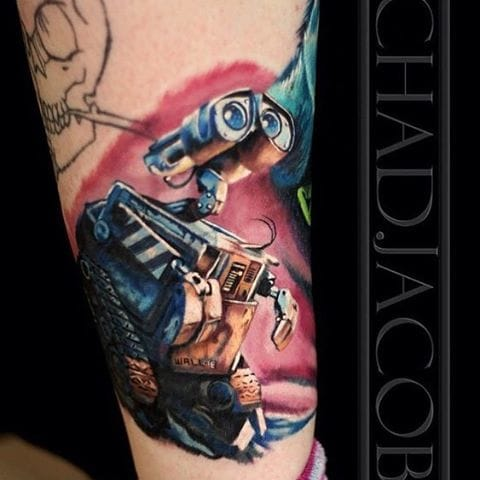 WALL-E Tattoo by Chad Jacob