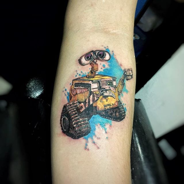 WALL-E Tattoo by Nadya Natassya