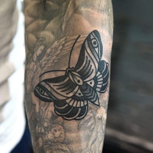 Blackwork butterfly by Philip Yarnell