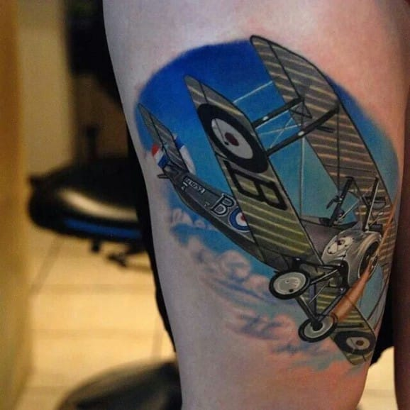 Fly High With These 10 Biplane Tattoos