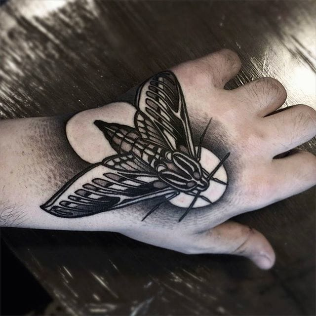 Moth Tattoo by Brando Chiesa