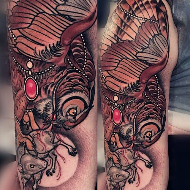 Owl Tattoo by Brando Chiesa
