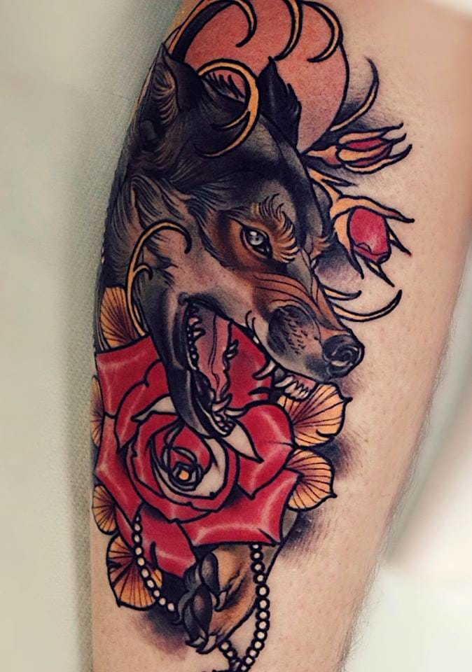 Wolf Tattoo by Brando Chiesa