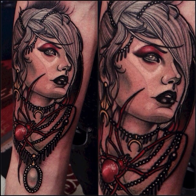 Woman Tattoo by Brando Chiesa