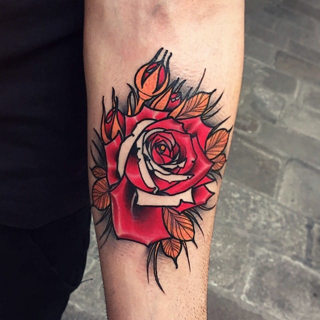 Rose Tattoo by Brando Chiesa