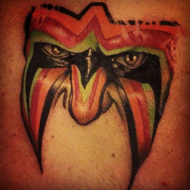 Ultimate Warrior Tattoo by Russell Kelley